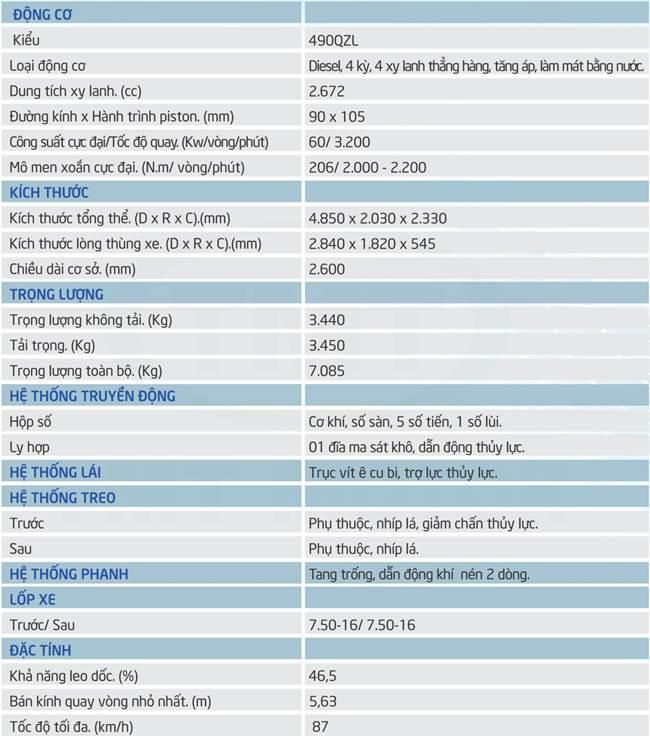 TMT ZB6035D TẢI TRỌNG 3.45T