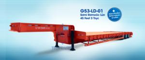 Sơmi Rơmooc lùn tải 45 feet 3 trục